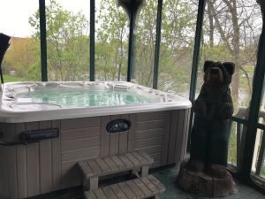 Hot Tub at The ELMS B&B, Westbrook,Maine