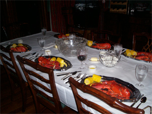 A lobster dinner at an ELMS event